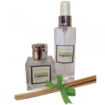 Strictly Professional Lime & Coconut Room Spray and Diffuser Gift Set