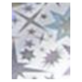 The Edge Nail Art Foil Silver Starburst