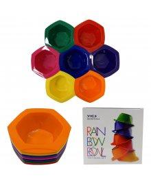 Rainbow Tint Bowls 7 Piece Set