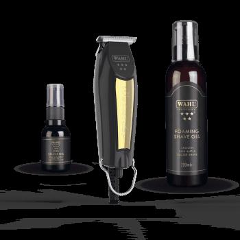 Wahl Black & Gold Detailer Trimmer Kit Limited Edition