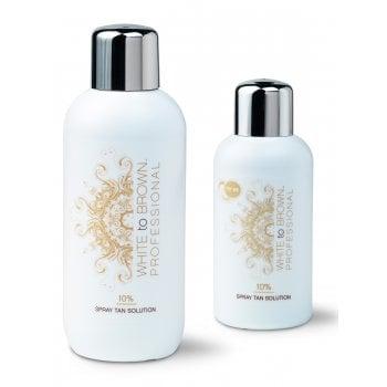WHITE to BROWN DHA Spray Tan Solution 10%